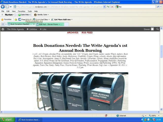 The Write Agenda goes book-burning